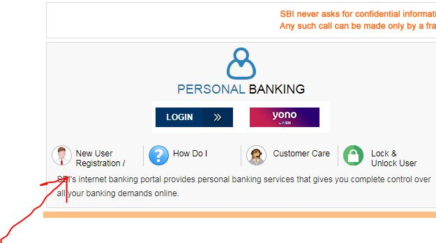 How to get the login ID and password of SBI online Internet BankingI at home.