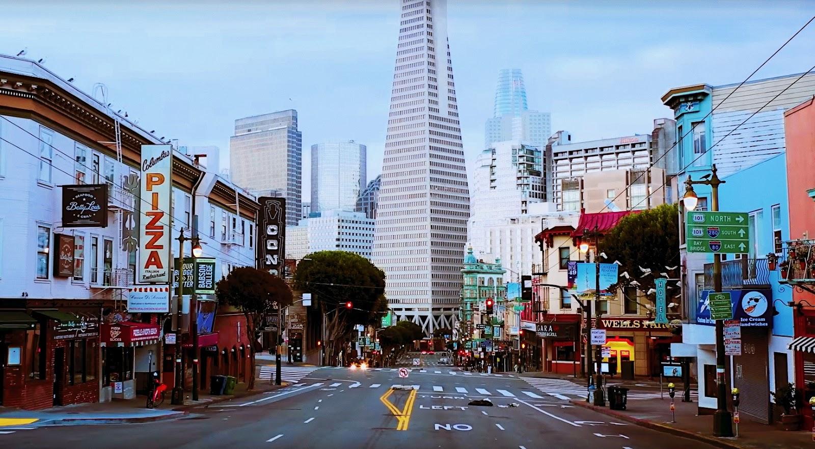 San Francisco Shut Down: COVID-19 Quarantine | Mit der Drohne durch die leeren Straßen von San Francisco