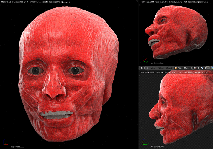 how to make a human face on blender