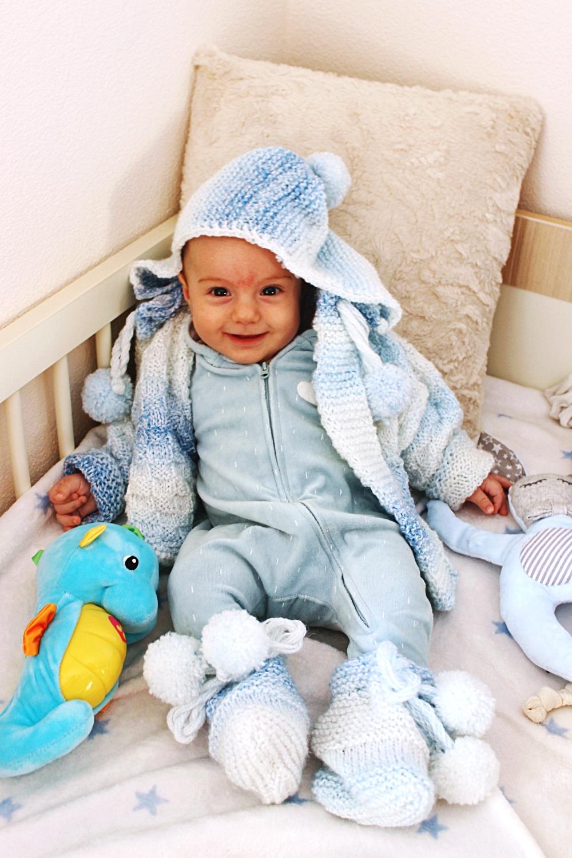 cute baby boy model photos, H&M Kids velvet blue onesie