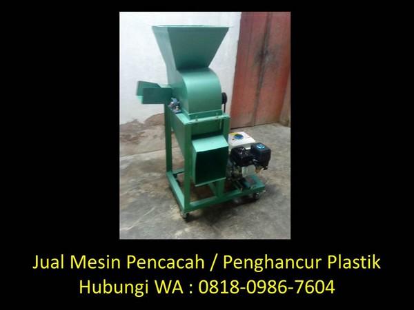 mesin perajang plastik sederhana di bandung