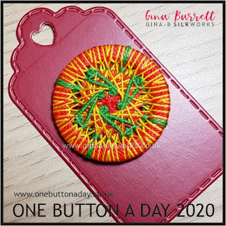 One Button a Day 2020 by Gina Barrett - Day 10 : Whirligig