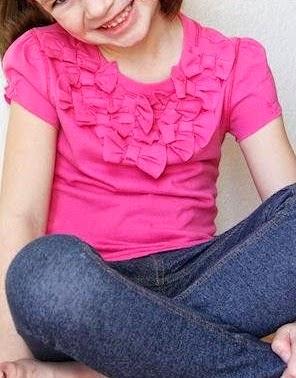 DIY transformar una camiseta de manga larga con lazos