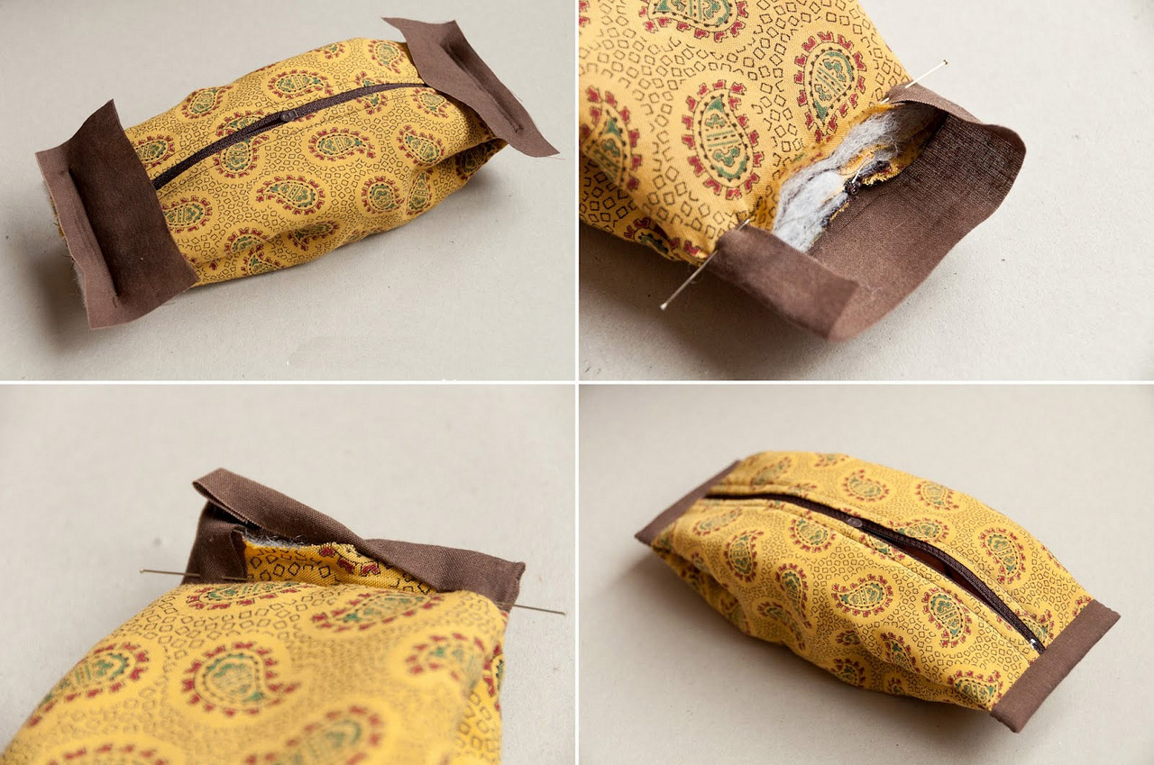 "Cosmetics Bag / Pouch ""Coquette"". DIY Tutorial with Photos."