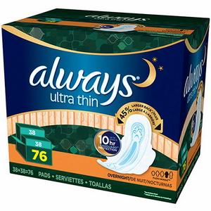 Băng vệ sinh dùng ban đêm Alway Ultra thin overnight hàng xách tay mỹ