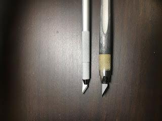 NT デザインナイフ DS-800PとD-400GPの比較