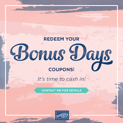 Redeem your Bonus Days Coupons by 31 August 2020