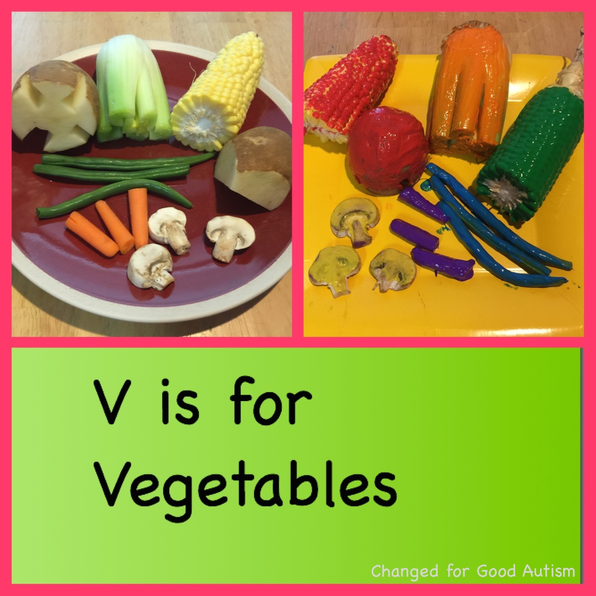 Changed For Good V Is For Vegetables Vegetable Painting Fun