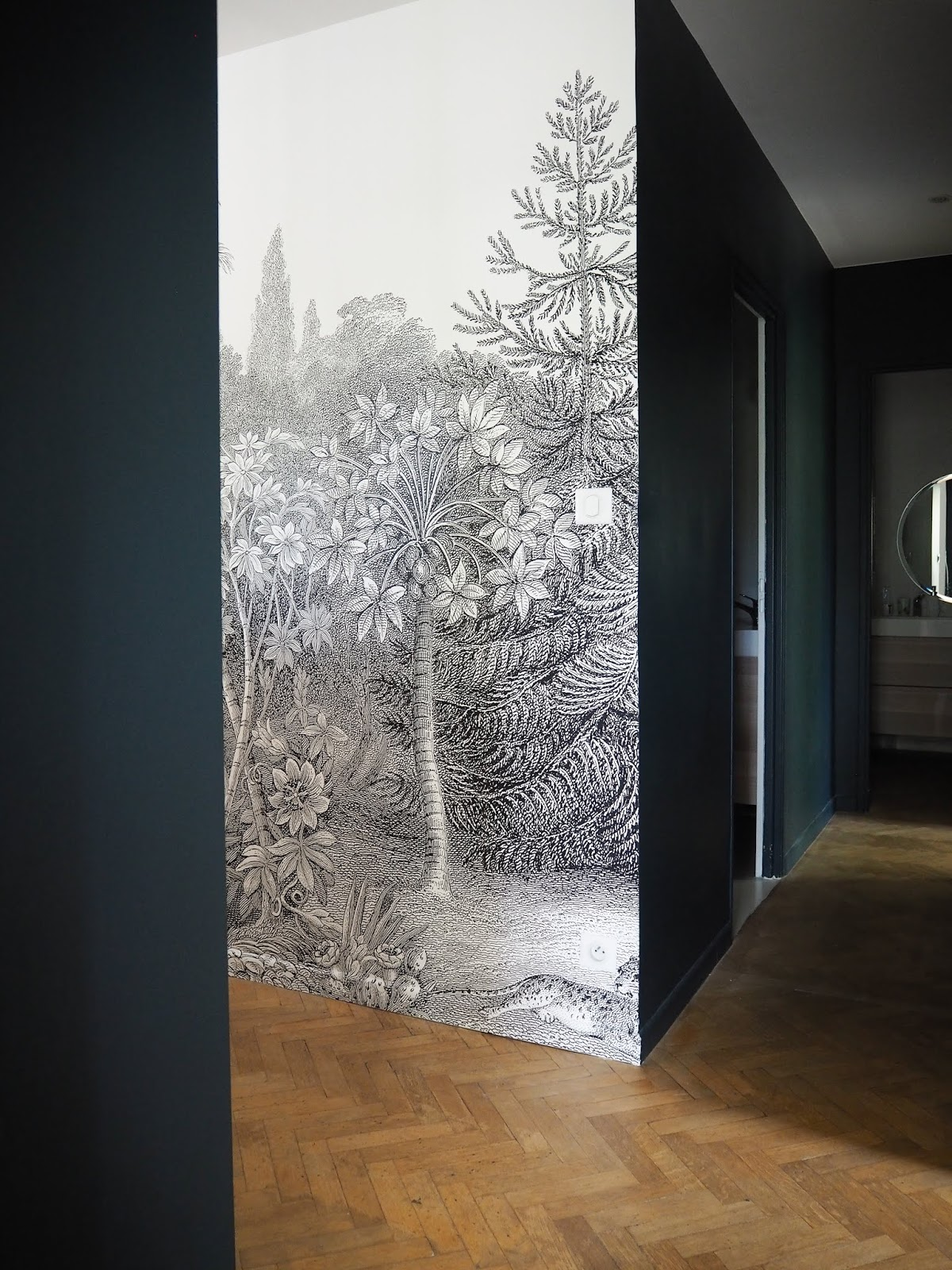 ilaria fatone x rebel walls - panoramic wallpaper in hallway