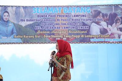 Yustin Ridho Ficardo Sosialisasi Balita Kurang Gizi di Lampung Tengah