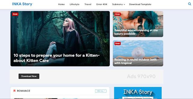 Inka Story - Template Blogger Keren