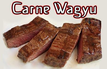 Carne Waygu preparada corte grueso