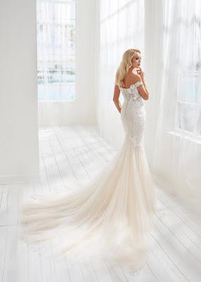 Randy Fenoli Mermaid Embroidered Tulle Bridal Dress