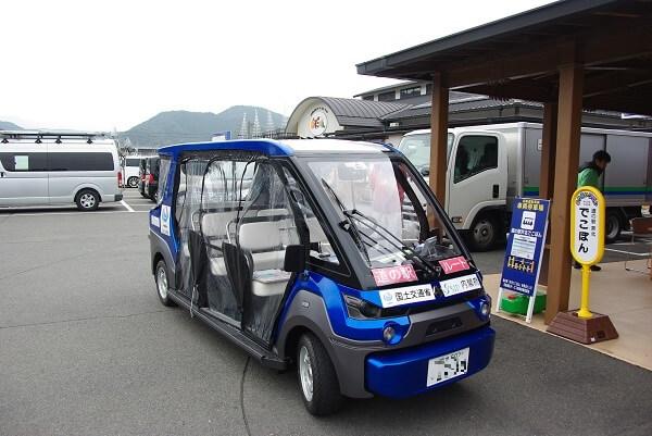自動運転車の車両写真です