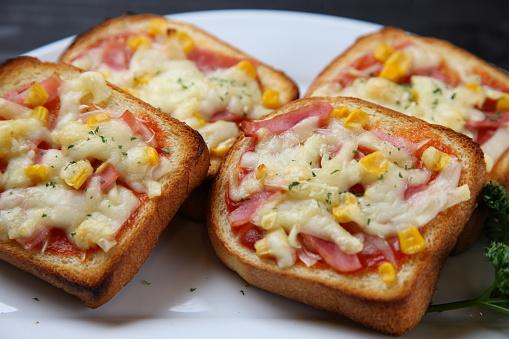 Pizza bread recipe   bread pizza recipe with instant pizza sauce