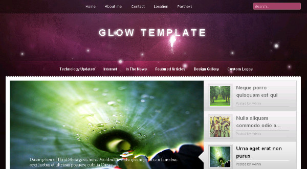 6 best free blogger templates with jquery content slider blogspot