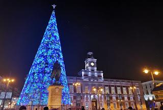 Luces navideñas de la Puerta del Sol.