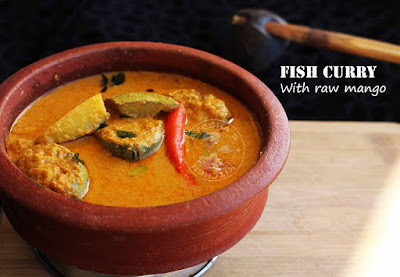 raw mango fish curry kerala style fish recipes coconut fish curry malabar fish curry indian recipes cuisine mackerel recipes