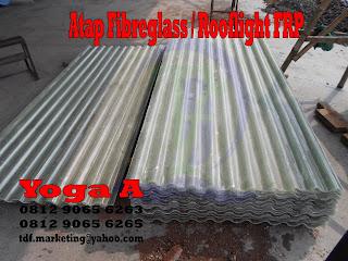 Atap Transparant Fibreglass, Atap FRP, Rooflight Fiberglass