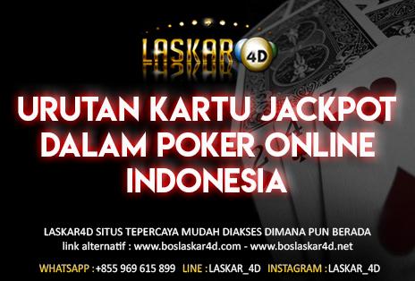 Urutan Kartu Jackpot Dalam Poker Online Indonesia