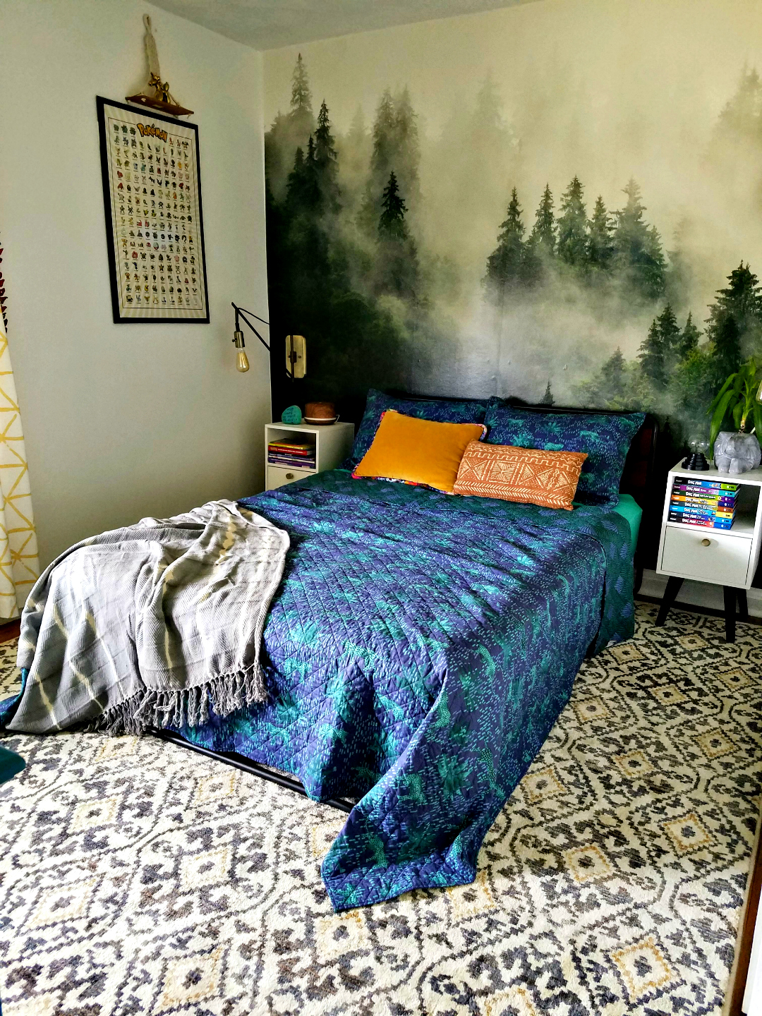 Big Impact Low Effort Design  Photowall Mural Accent Wall - Designed A Kids Bedroom TheBohoAbode