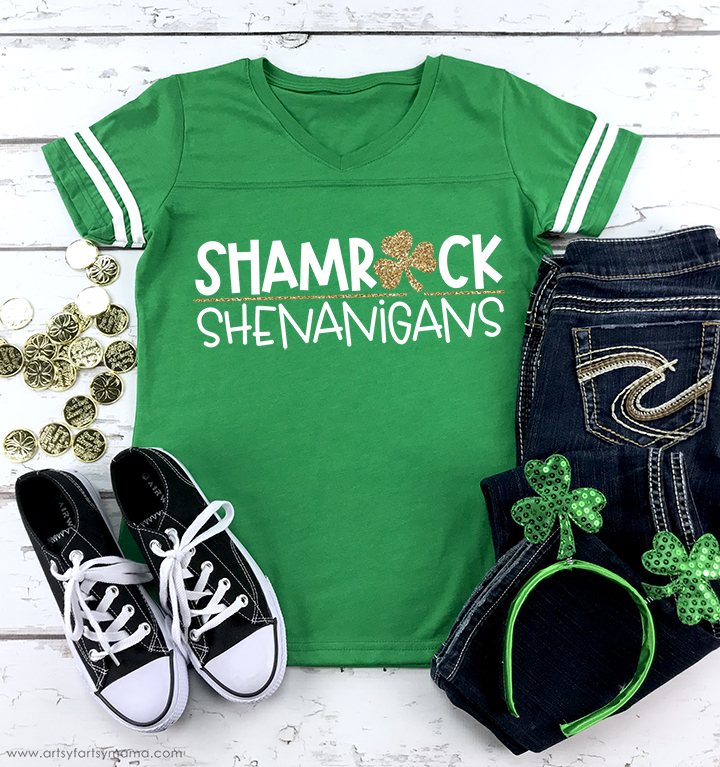Shamrock Shenanigans St. Patrick's Day Shirt with Free Cut File