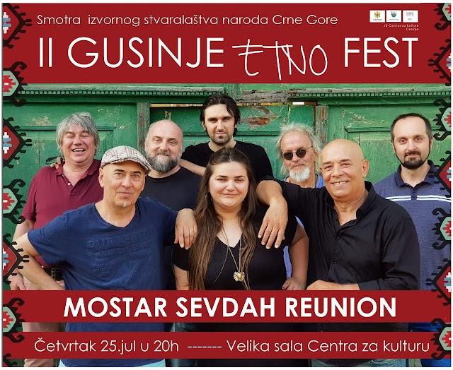 Mostar sevdah reunion večeras u Centru za kulturu u Gusinju