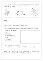 Atividade Texto A Cigarra e a Formiga PDF Grátis