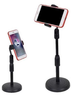 Giá đỡ điện thoại live đế tròn DC01, tăng chỉnh chiều cao, xoay 360