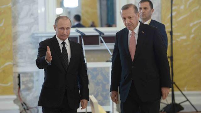 Η προσέγγιση του Πούτιν με τον Ερντογάν ανησυχεί την Ουάσιγκτον