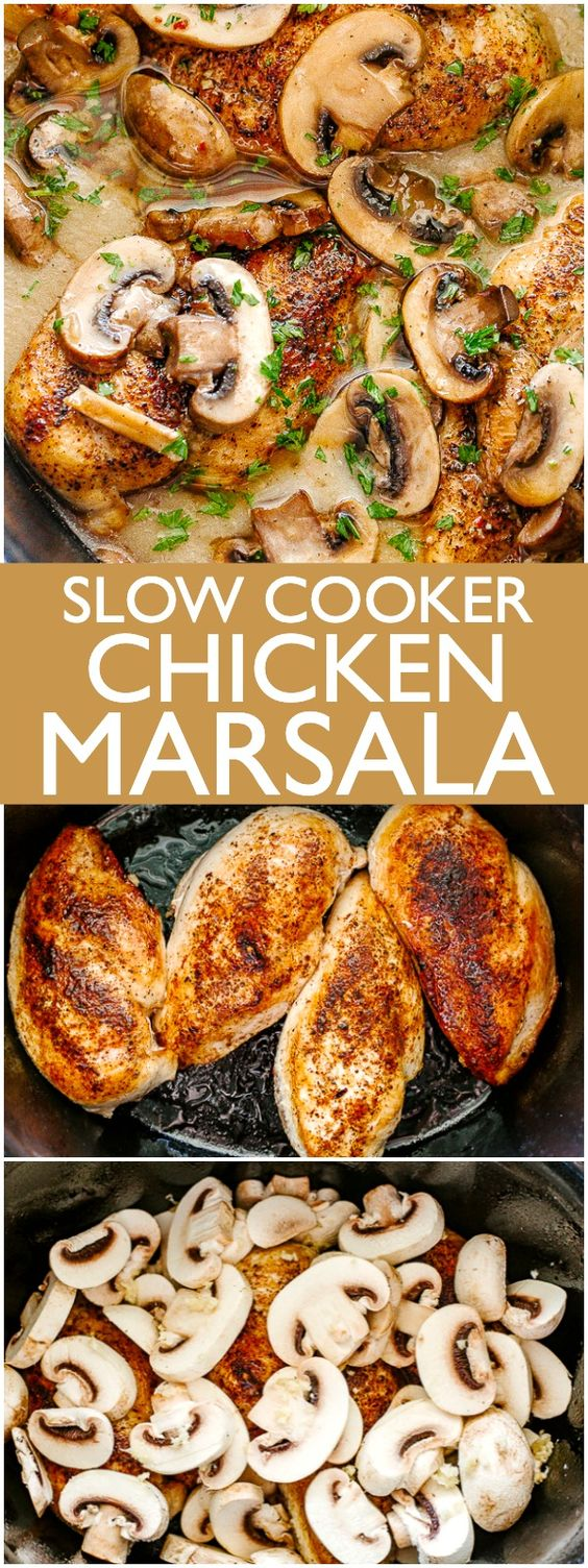Easy Made Slow Cooker Chicken Marsala