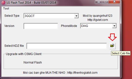 Cómo cargar KDZ a LG Flash Tool