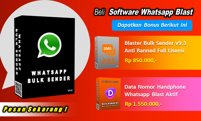 Jual Software Whatsapp Bulk Sender Blaster Anti Banned