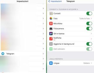 Permessi app