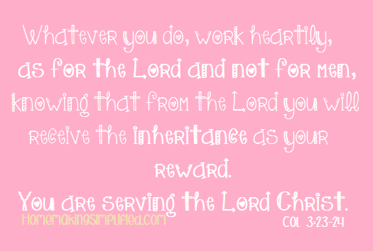 Colossians 3;23-24
