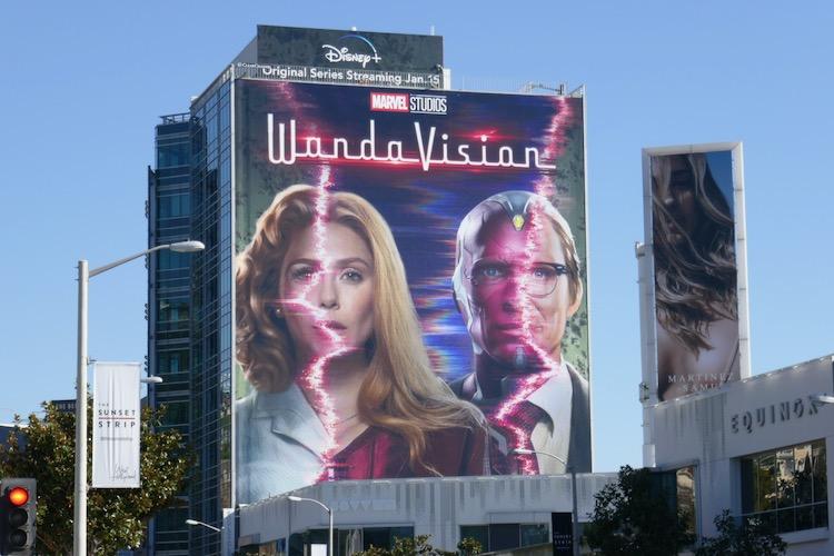 Giant WandaVision series premiere billboard