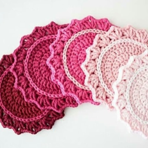 Ombre Crocheted Coasters - Free Pattern