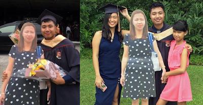 Universitario lleva a su graduación fotografia de su madre muerta