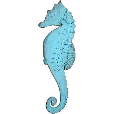Wood Cutout Seahorse