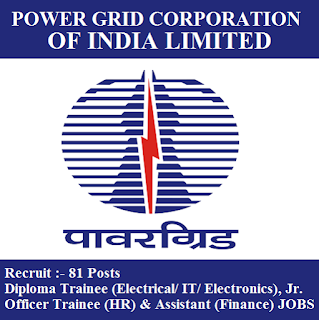 Power Grid Corporation of India Limited, PGCIL, Power Grid, New Delhi, Diploma Trainee, Officer Trainee, Assistant, Graduation, freejobalert, Sarkari Naukri, Latest Jobs, pgcil logo