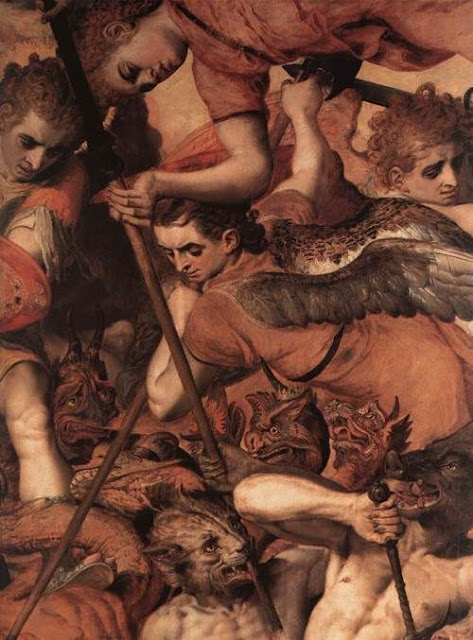 The Fall of the Rebellious Angels ( deatil).  Frans Floris. Flemish Northern Renaissance Painter (1516-1570)