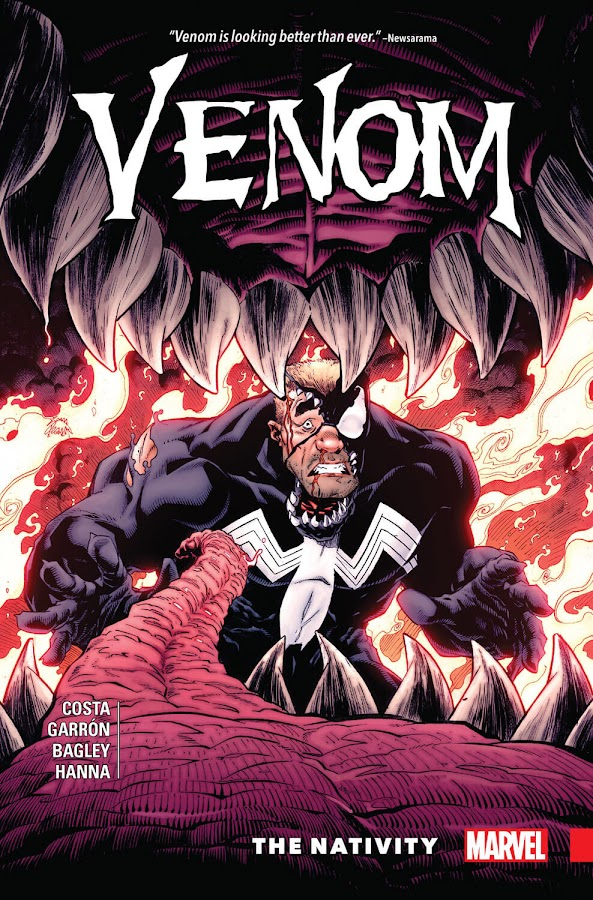 venom the nativity marvel comics cover 2018 eddie brock klyntar mike costa david michelinie mark bagley javier garron