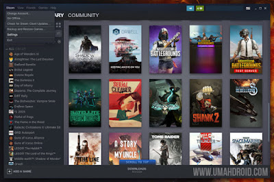 Setting Steam Play Main Game Windows di Linux