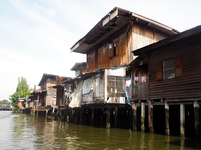 Stilt houses on the canals in Bangkok, Thailand