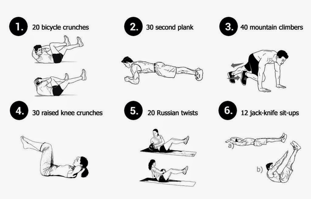 Body Fitness-Best Exercise: Abs Exercises: Six Moves for a