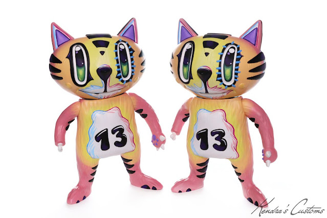 lucky frank the lucky cat 8 inch custom by kendras customs
