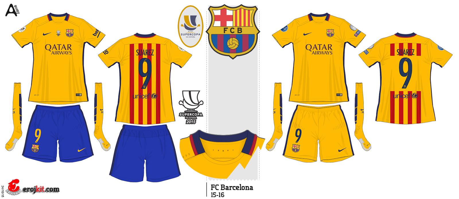 A cor usada no do Barça é o Azul 3b688eaeb14