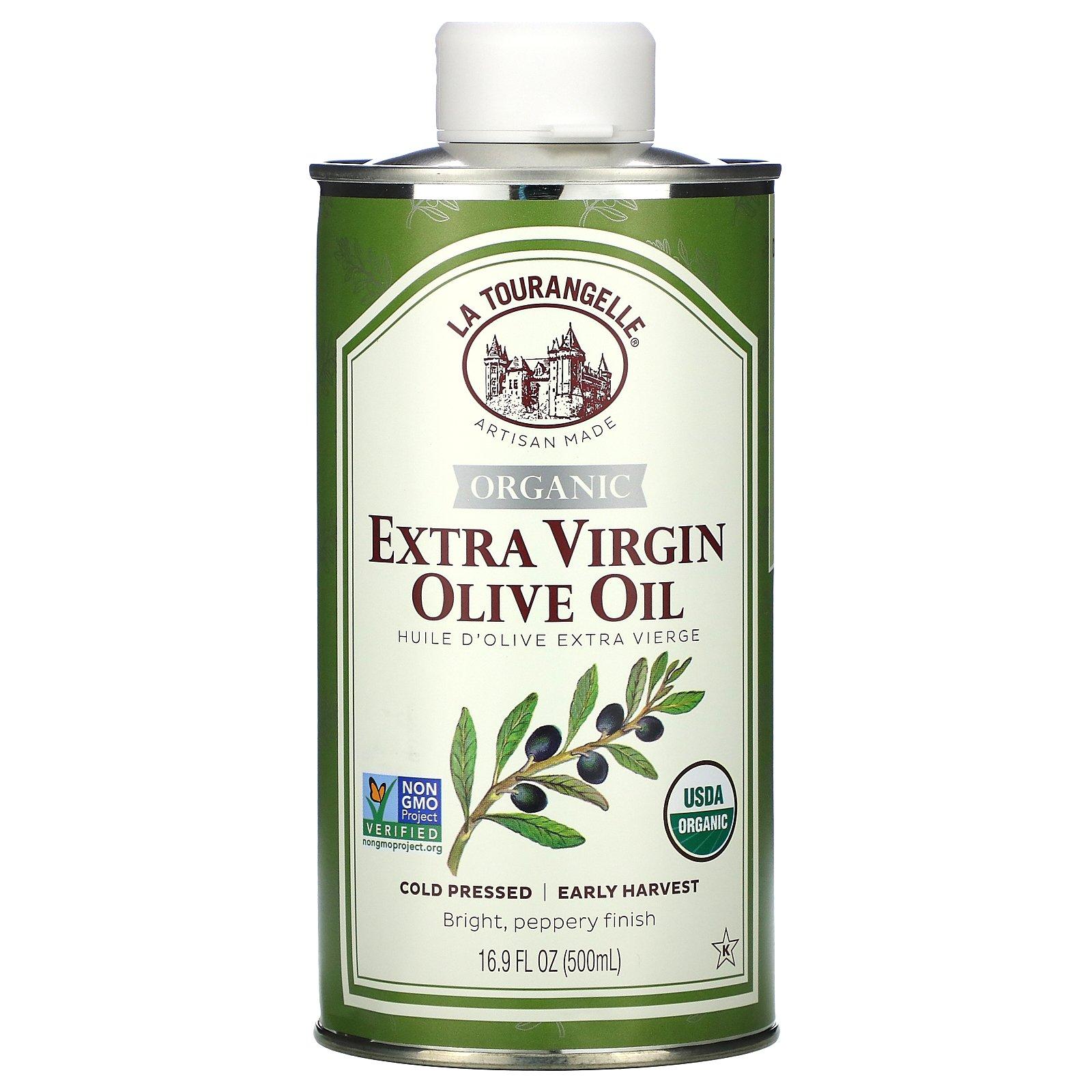 La Tourangelle, органическое нерафинированное оливковое масло высшего качества, 500 мл (16,9 жидк. унции)