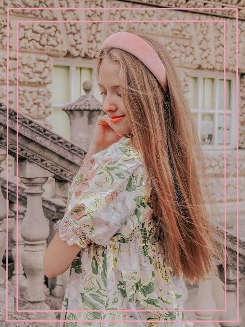 Accessorize Pink Velvet Hairband