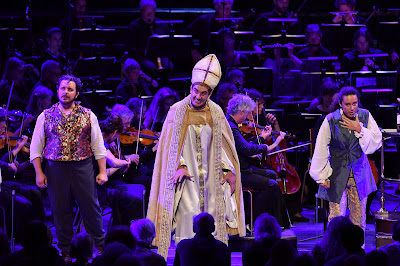 Berlioz: Benvenuto Cellini - Michael Spyres, Tareq Nazmi, Adèle Charvet - BBC Proms (Photo BBC / Chris Christodoulou)